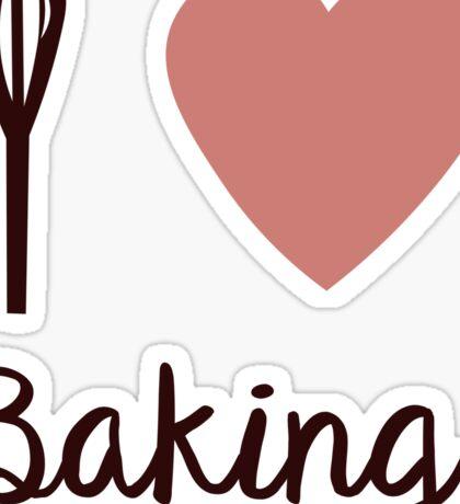 I <3 Baking  Sticker