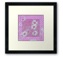 Daisies And Lace Framed Print