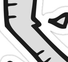 cartoon bent nail Sticker