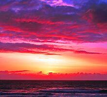 SUNSET CALIFORNIA COAST by Chuck Wickham