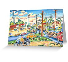 Dodgeville, small town, traffic Greeting Card