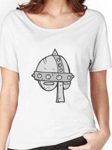 cartoon medieval helmet Women's Relaxed Fit T-Shirt