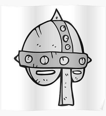 cartoon medieval helmet Poster