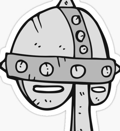 cartoon medieval helmet Sticker