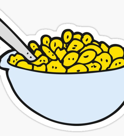 cartoon bowl of cereal Sticker