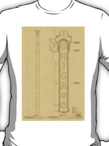 Chicago Theatre Blueprint T-Shirt