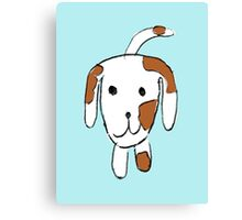 Simple Puppy Design in Hand-drawn Canvas Print