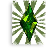 the Sims diamond Canvas Print