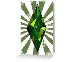 the Sims diamond Greeting Card