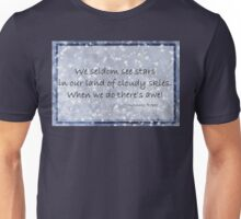 Cloudy blue Sky Star haiku  Unisex T-Shirt