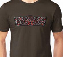 Celtic Knotwork Design Red Unisex T-Shirt