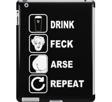 FATHER JACK DRINK FECK ARSE REPEAT FATHER TED iPad Case/Skin