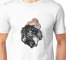 Cockapoo in a winter hat Unisex T-Shirt