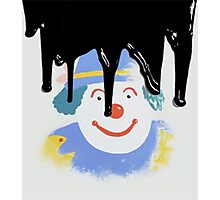 I might paint a picture of a clown Photographic Print