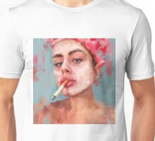 mask with cigarette  Unisex T-Shirt