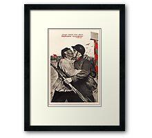 Soviet Propaganda - Liberation of the Whole Earth (1939) Framed Print
