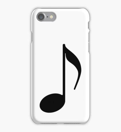 Note Symbol schwarz iPhone Case/Skin