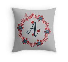 Scandinavian Monogram A Throw Pillow