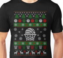 Basketball Ugly Christmas Design Unisex T-Shirt