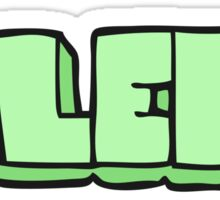 cartoon left symbol Sticker