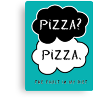 The Fault In My Diet Canvas Print