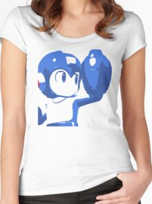 The Blue (and cyan) Bomber Women's Fitted Scoop T-Shirt