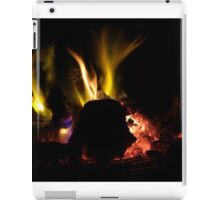 Fire (and spark streaks)-real driftwood colours iPad Case/Skin