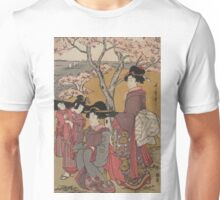 Cherry-viewing at Gotenyama 3 - Utamaro Kitagawa - 1805 Unisex T-Shirt