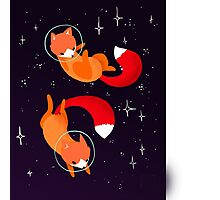 Space Foxes Photographic Print