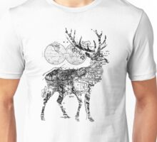 Deer Wanderlust Black and White Unisex T-Shirt