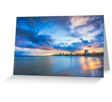 Carrer La Mar at sunset Greeting Card