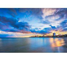 Carrer La Mar at sunset Photographic Print