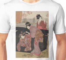 Cherry-viewing at Gotenyama - Utamaro Kitagawa - 1805 Unisex T-Shirt