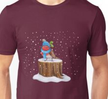 Robin in the Snow Unisex T-Shirt
