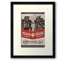 Brotherhood vs Enclave Framed Print