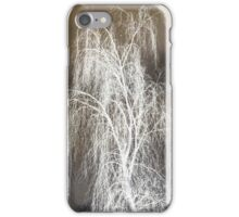 Negative of a tree in Autumn iPhone Case/Skin