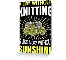 Best Knitting Design Greeting Card