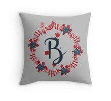 Scandinavian Monogram B Throw Pillow