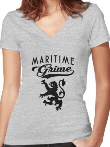 Nova Scotian Solid Women's Fitted V-Neck T-Shirt
