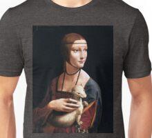 The lady with an elmine-Leonardo da Vinci Unisex T-Shirt