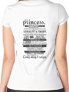 I Am a Princess Women's Fitted Scoop T-Shirt