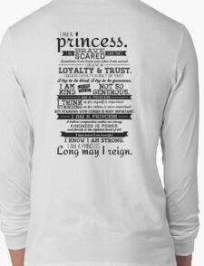 I Am a Princess Long Sleeve T-Shirt