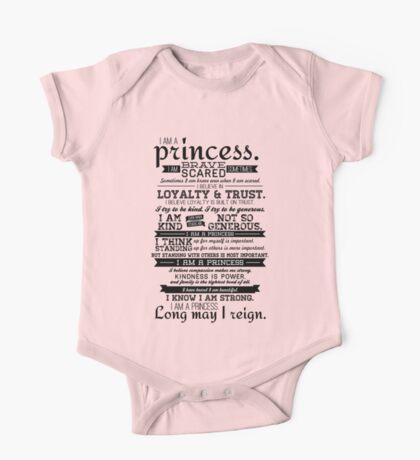 I Am a Princess One Piece - Short Sleeve