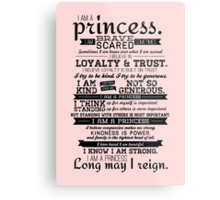 I Am a Princess Metal Print