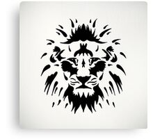 Tribal Lion Canvas Print
