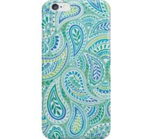 Aqua Paisley iPhone Case/Skin