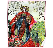 SUMMER QUEEN ; Vintage Fairy Tale Print Poster