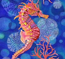 Seahorse in the Blue by Janet Broxon