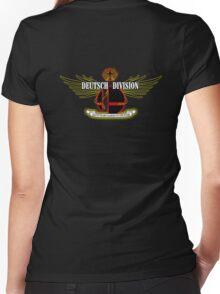 Super Smash Bros. German Division Women's Fitted V-Neck T-Shirt