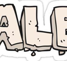 paleo cartoon sign Sticker